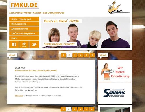 Internetseite FMKU.de