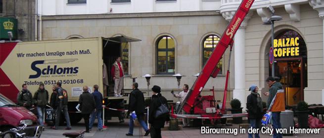 Büroumzug in Hannover mit Schloms