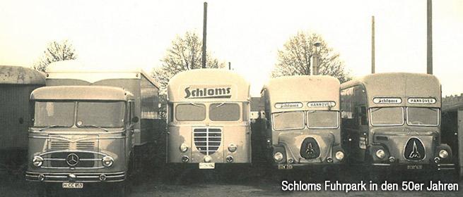 Umzug Hannover in den 50er Jahren mit dem Schloms Fuhrpark