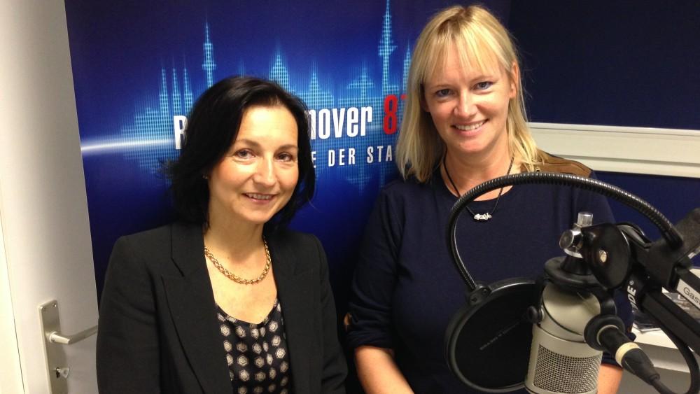 Radio Hannover zur Wirtschaftsmesse 2014 2mal Claudia: Fyrnihs und Rinke