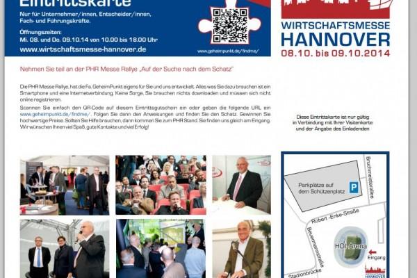 Einladung Wirtschaftsmesse Hannover 2014
