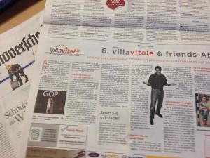 Zeitungsartikel zu villa vitale & friends