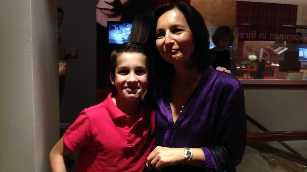 Mutter und Sohn: Tim Rinke vor dem Auftritt im GOP am 3.11.2014