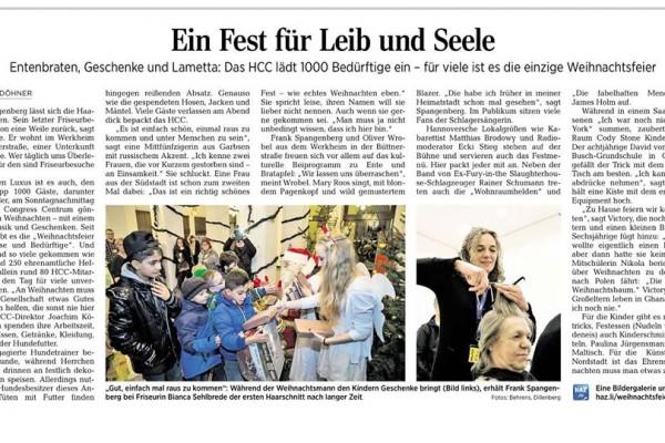 DIE!!! Weihnachtsfeier 2014 Hannover, Kartonspende
