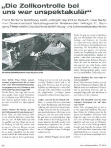 Beitrag in der aktuellen August-Ausgabe des Möbelspediteurs