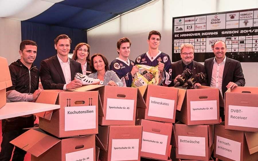 Akteure zur Spendenaktion Flüchtlinge